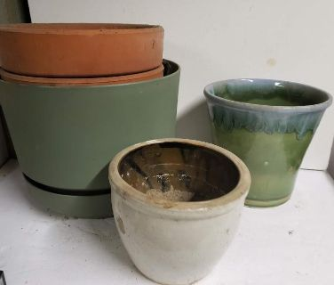 Planters and Crock