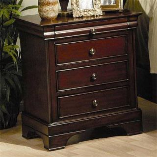 Versailles 3 Drawer Night Stand (Mahogany) Display Model!