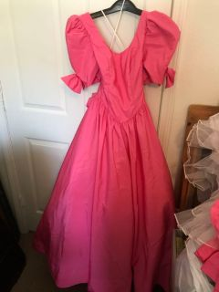 Vintage Mike Benet Hot Pink Bridesmaids Dress Size 10