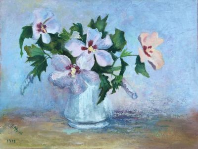 Vintage Oil Painting - French Floral Still Life