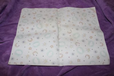 """Moon, Sun and Stars Changing Table Spill Pad Roughly 13"""" x 10"""""""