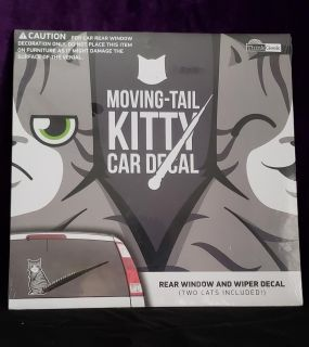 Moving Tail Kitty Decal