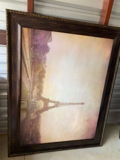 Large Eiffel Tower framed art