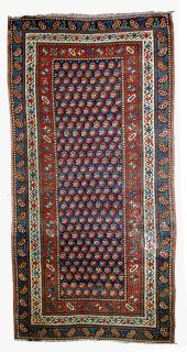 Handmade antique Caucasian Gendje rug, 1B475