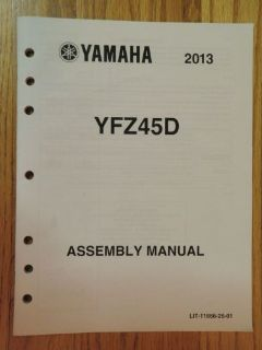 Buy GENUINE YAMAHA YFZ45D 4 WHEELER ASSEMBLY MANUAL NEW motorcycle in Prior Lake, Minnesota, United States, for US $12.99
