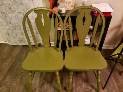 Kitchen Table Chairs- Green