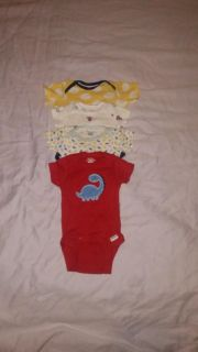 :: (4) size Newborn mostly Gerber brand onesies excellent condition BUNDLE DISCOUNT IF PURCHASE $25-$4