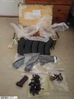 For Sale: 7.62X39 M67 full case and mags