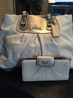 Authentic Coach Ashley Cross-body and matching wallet