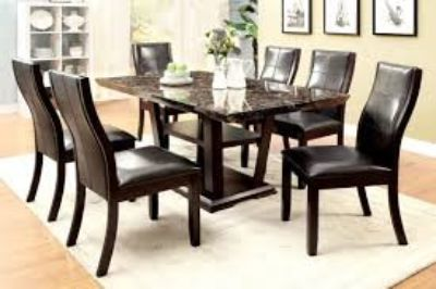 Marble Table Top with 6 chairs