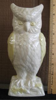 *~~~ Vintage Belleek Owl Vase ~ Gold Mark ~ MINT Condition ~~~*