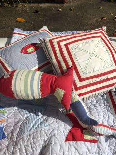 Pottery barn fish quilt