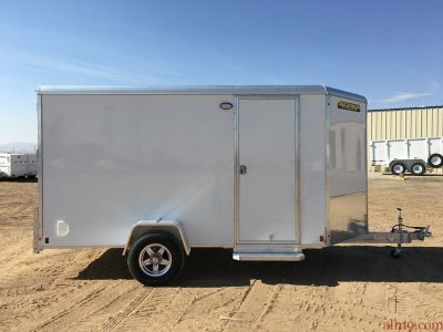 6x12 Single Axle Motorcycle Trailer, Aluminum Enclosed Cargo Trailer, Aluma AE612R