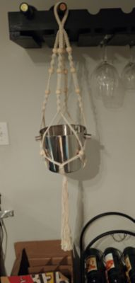 Macrame plant hanger (pot not Included)