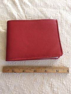 Red leather coupon/photo wallet