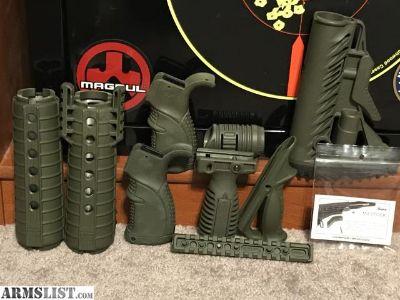 For Sale: Fab Defense OD Green AR15 set