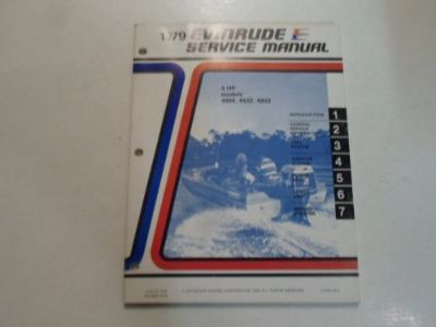 Find 1979 Evinrude 4 HP 4904 4932 4933 Service Repair Shop Manual FACTORY OEM DEAL 79 motorcycle in Sterling Heights, Michigan, United States, for US $17.95