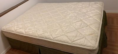 Guc queen sized box spring and mattress w/frame asking $150