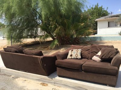 Couche and love seat micro-suede