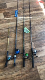 Rods and reels.