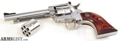 For Sale: RUGER STAINLESS SINGLE-SIX 22 LR & MAG.