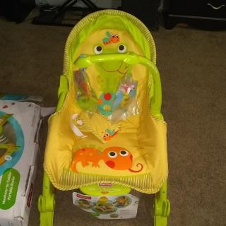Baby to toddler rocker and seat