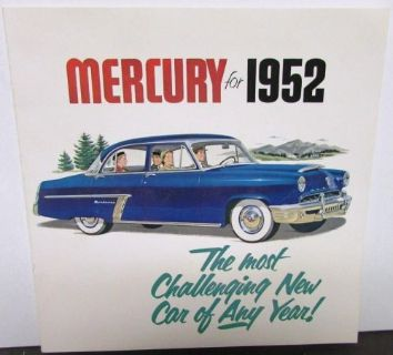 Find 1952 Mercury Dealer Sales Brochure Sedan Sport Coupe Monterey Station Wagon Nice motorcycle in Holts Summit, Missouri, United States