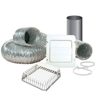 "Everbilt 4"" x 8' Dryer Vent Kit with Guard"