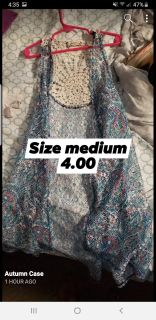 Long lacy vest/cover up. Size med. 4.00