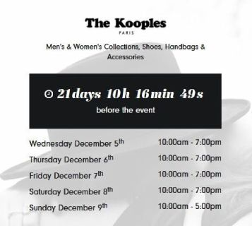 The Kooples - Sample Sale Started on 5th Dec in Los Angeles - Get Register Today