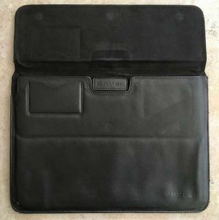 Snugg - Black PU Leather Protective Sleeve for Macbook Air & Pro 13""