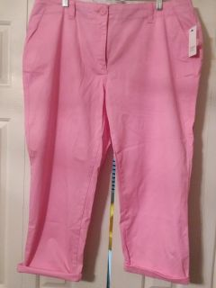 Sz16W crown & ivy capri pant, new with tags