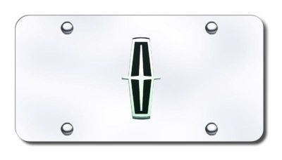 Find Ford Lincoln Logo (Black) Chrome/Chrome License Plate Made in USA Genuine motorcycle in San Tan Valley, Arizona, US, for US $31.62