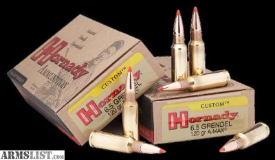 For Sale: Hornady 8152 Custom 6.5mm Grendel 123 GR SST 20 rounds-flat rate shipping 14.95