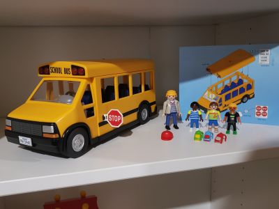 Playmobil school bus with accessories. Lights work! $15 Appleton cp