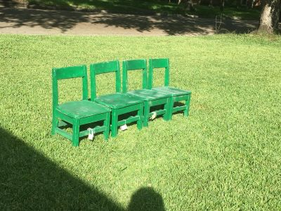 Small wooden toddler sized chairs