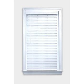 "2"" Faux Wood Blinds (White) - 1 Panel. Fits 70 1/4"" W x 70""H"