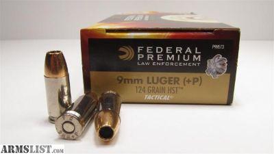 For Sale: 9mm 124gr federal hst