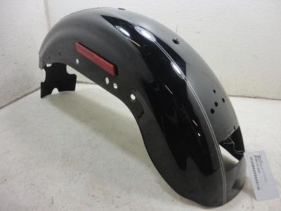 Buy 04-15 Harley Davidson Sportster XL1200 XL883 REAR FENDER vivid black w/ silver motorcycle in Massillon, Ohio, United States, for US $129.95