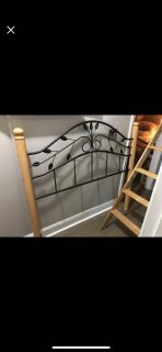 Full size headboard with rails.