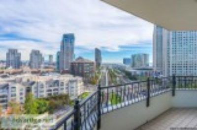 High-rise Condo with Bay and City Views bed bath plus den La