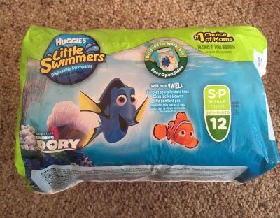 Swim diapers, Size Small (16-26 lbs)