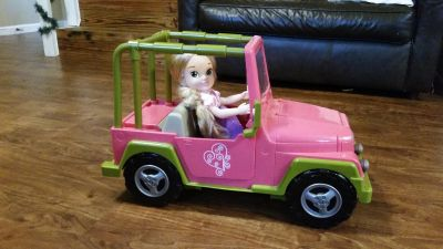 Christmas - Large Jeep for full size dolls