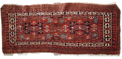 Handmade antique Turkmen Yomud rug, 1C06