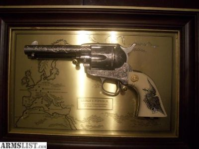 For Sale: George S. Patton commemorative replica Colt Single Action by Franklin Mint