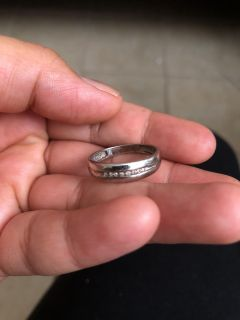 Real white gold ring with diamonds I pay $180.00 in JCPenny make offer!!