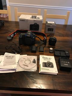 Canon EOS 6D 20.2MP FULL FRAME DIGITAL SLR CAMERA w/EF 50MM F1.8 LENS 2 CHARGERS 2 BATTERIES REMOTE
