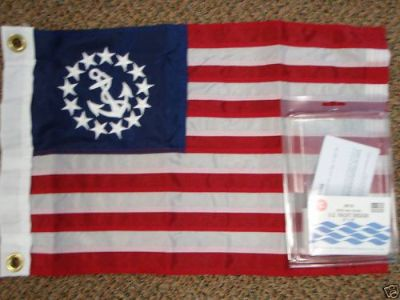 Sell YACHTING BOAT FLAG DELUX SEWN US YACHT ENSIGN 32-8124 16X24 BOATING MARINE FLAG motorcycle in Osprey, Florida, United States, for US $27.95