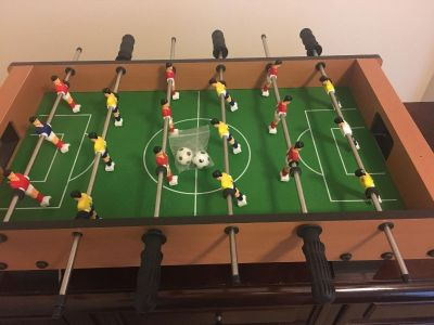 Portable Mini Table Football / Soccer Game Set with Two Balls for kids