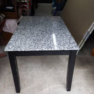 REAL MARBLE RECTANGULAR KITCHEN TABLE & 4 CHAIRS